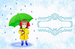 Label design for childrens umbrellas Royalty Free Stock Images