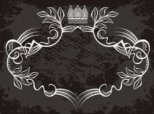 Label design with crown stock illustration