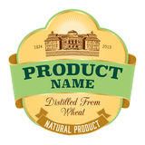 Label design. Easy editable label template with handmade elements Royalty Free Stock Photos