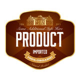 Label design. Full editable template Royalty Free Stock Photography