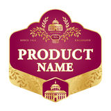 Label design Royalty Free Stock Photo