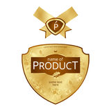 Label design. With golden elements Stock Photo