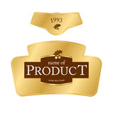 Label design. With golden elements Stock Images
