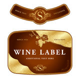 Label design stock illustration