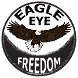 Label design with hand drawn eagle for posters, t-shirts, greeting Royalty Free Stock Image