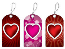 Label design set with hearts Stock Images