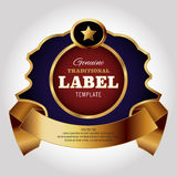 Label Design Template Royalty Free Stock Photography
