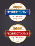 Label Design Template Vector Stock Photography