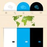 Label design website template Stock Image