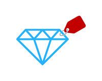 Label Diamond Icon Logo Design Element Image stock