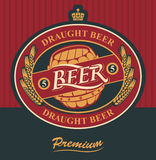 Label for draft beer Royalty Free Stock Photo