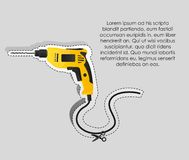 Label of a drill Stock Photography