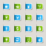 Label - Drink Icons Stock Images