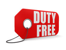 Label duty free (clipping path included) Royalty Free Stock Photography