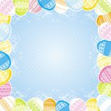 Label with easter eggs, vector royalty free stock photos