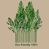 Label with eco-friendly 100%. Illustration Royalty Free Stock Photo