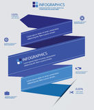Label Elements Infographics,Blue version Stock Photos