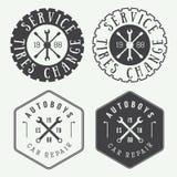 Label, emblème et logo de mécanicien de vintage Illustration de vecteur illustration libre de droits