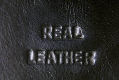 Label en cuir Images stock