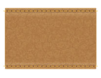 Label en cuir pour l'illustration de vecteur de jeans Image stock