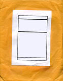 Label On Envelope Royalty Free Stock Images