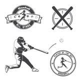 Label et insigne de base-ball de vintage Images stock