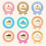 Label et logo doux d'insigne de boulangerie Photographie stock