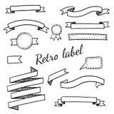 Label et rubans de vintage Image stock