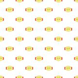 Label exclusive new product pattern, cartoon style Royalty Free Stock Photography