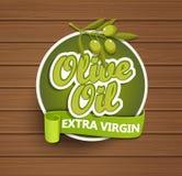 Label extra vierge d'huile d'olive Photos libres de droits