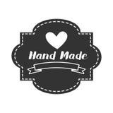 Label fabriqué à la main, atelier fait main de métiers illustration libre de droits