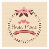 Label fabriqué à la main, atelier fait main de métiers illustration de vecteur