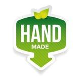 Label fabriqué à la main de signe avec des feuilles illustration stock