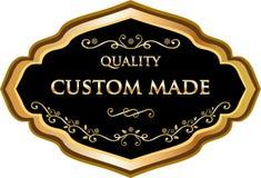 Label fait sur commande de médaille d'or de qualité illustration de vecteur