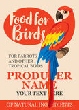 Label feed tropical birds Stock Image