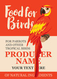 Label feed tropical birds Royalty Free Stock Photography