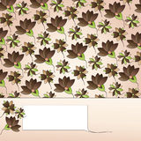 label on floral background Stock Photography