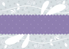 Label with floral background Stock Photography