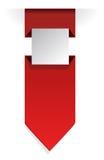 Label folded banner Stock Image