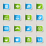 Label - Food Icons Stock Images