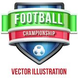 Label for football sport competition. Bright Stock Photo