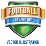 Label for football sport competition. Bright Stock Image