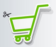 Label in form of cart Royalty Free Stock Photo