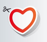 Label in the form of heart Royalty Free Stock Photos