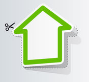 Label in form of house Royalty Free Stock Images