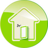 Label in form of house vector illustration