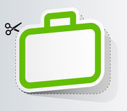 Label in form of suitcase Royalty Free Stock Photography