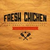 Label frais de poulet de vintage illustration libre de droits