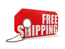 Label free shipping (clipping path included) Royalty Free Stock Photo