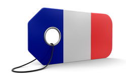 Label with French Flag Stock Images